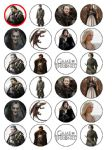 24 Games of Thrones Edible Wafer Paper Cup Cake Toppers